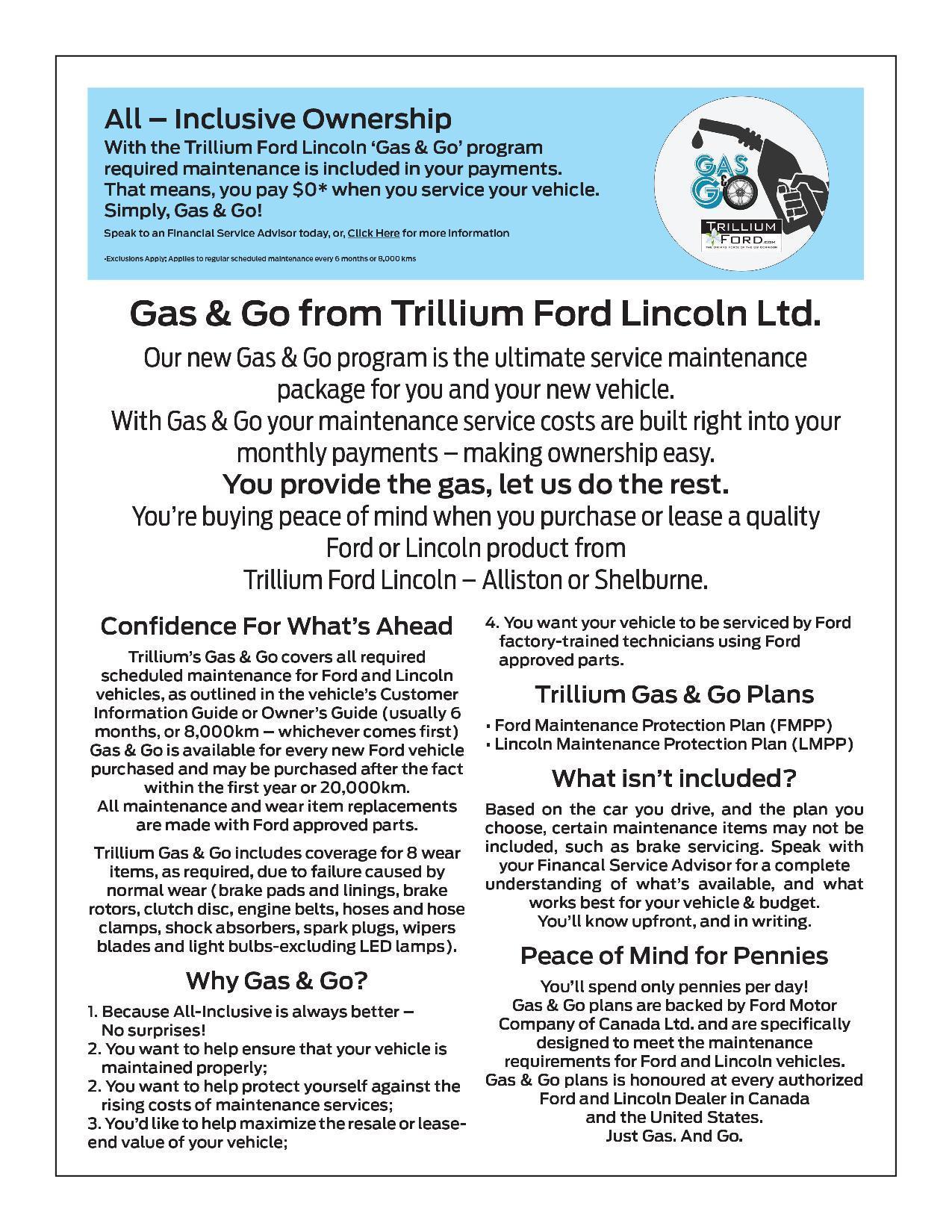 Trillium Ford Gas & Go program details