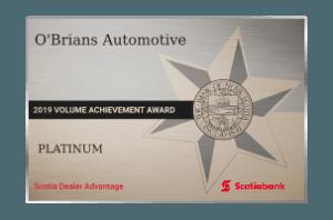Scotia Dealer Advantage 2019 Volume Achievement Award