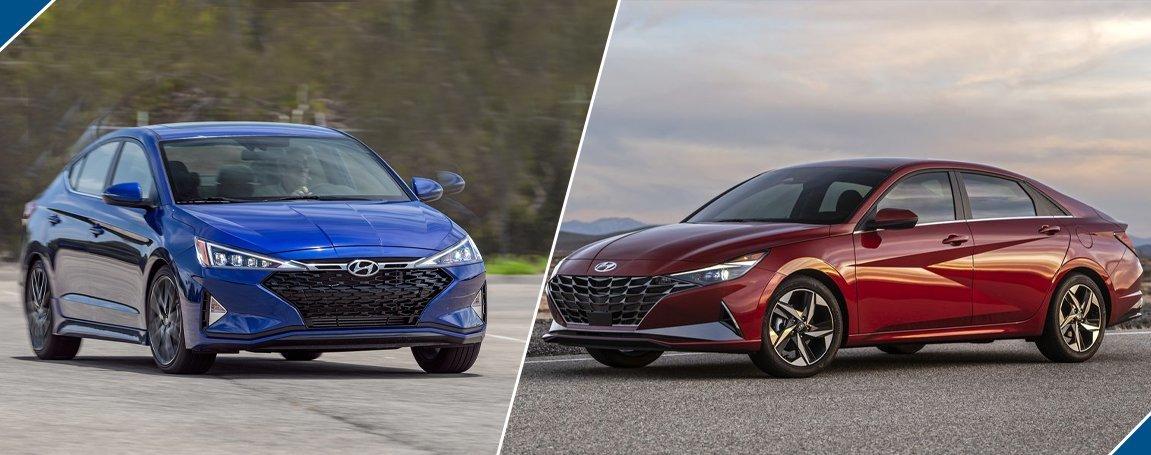2021 Hyundai Elantra vs 2020 Hyundai Elantra