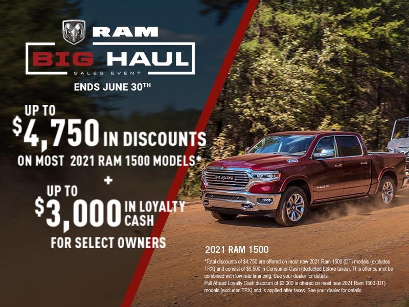 2021 Ram 1500 Classic Promotion