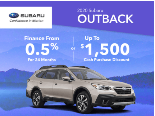 Rally Subaru Outback Promotions