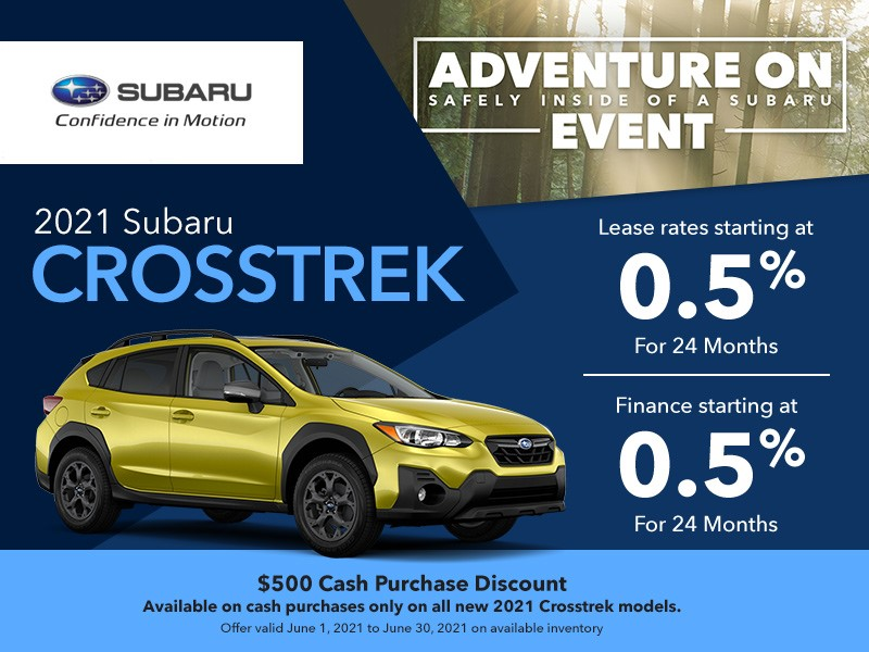 2021 Subaru Crosstrek Promotion