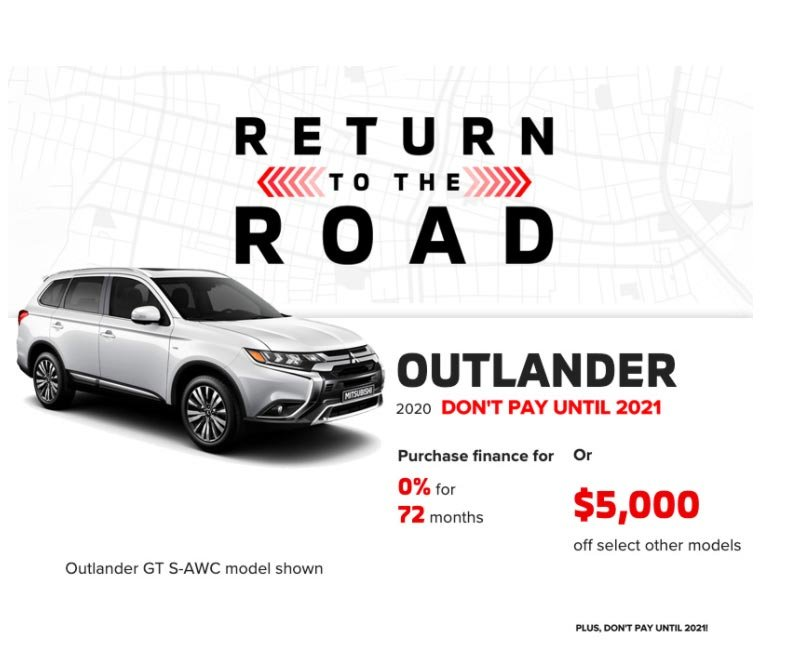return to the road - 2020 Mitsubishi Outlander