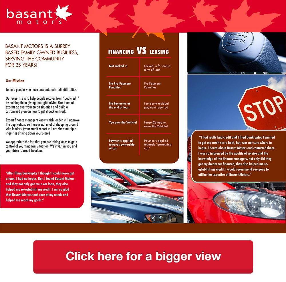 Rebuild Your Credit with Basant Motors