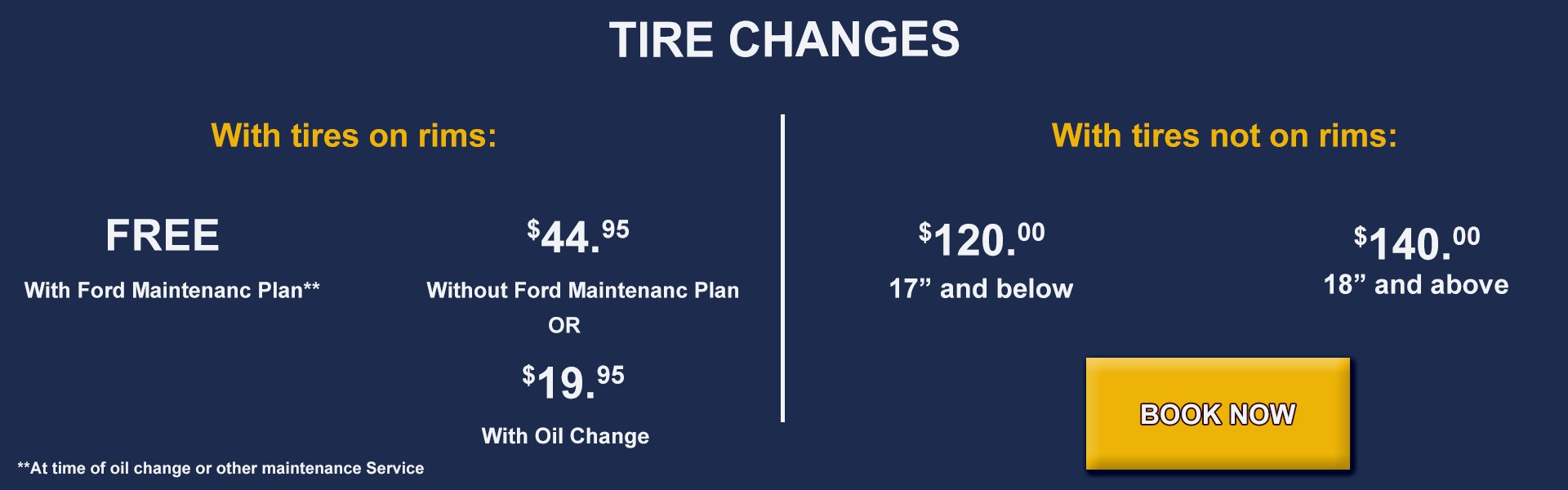 Book your Tire Change Now