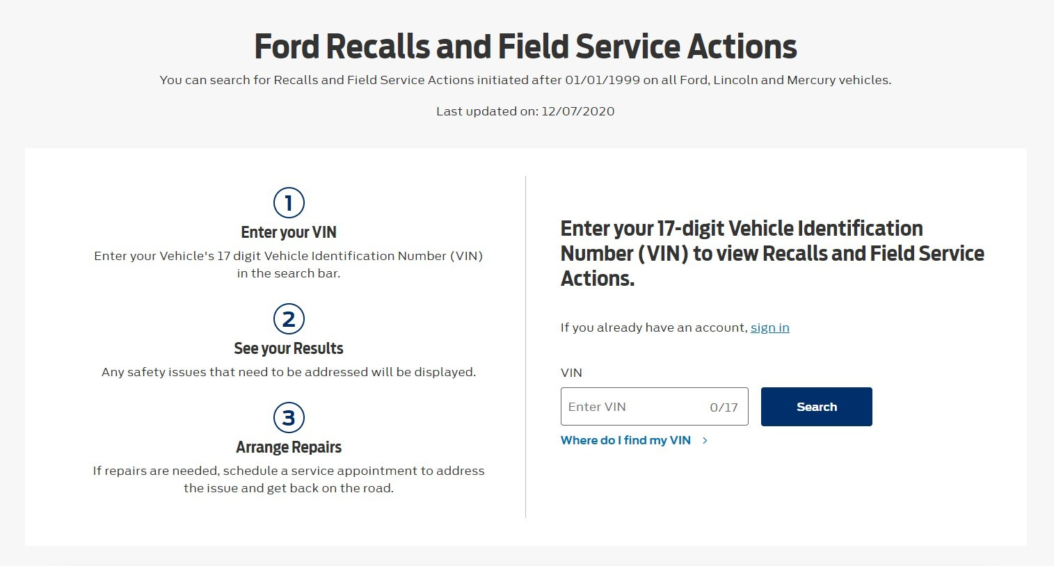 Keep your vehicle safe and running like it should. Enter your information in the form to the right and get your free vehicle recall check today!
