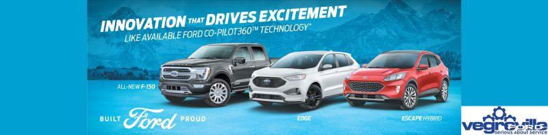 Innovative Design. Meet the all new 2021 Ford lineup ONLY at Vegreville Ford