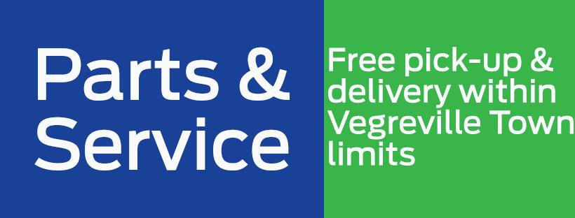 Parts & Service Free Delivery within Town of Vegreville