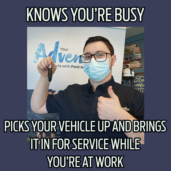 Vegreville Ford knows your busy, let us pick up your vehicle for service. Saving you time and letting you get on with your day.